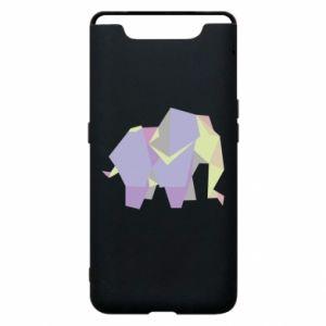Phone case for Samsung A80 Elephant abstraction - PrintSalon
