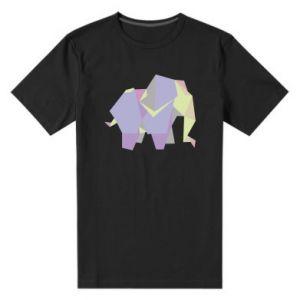 Men's premium t-shirt Elephant abstraction - PrintSalon
