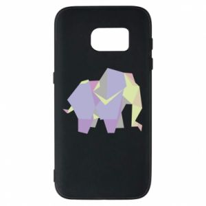 Phone case for Samsung S7 Elephant abstraction - PrintSalon