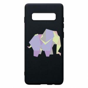 Etui na Samsung S10+ Elephant abstraction