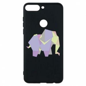 Phone case for Huawei Y7 Prime 2018 Elephant abstraction - PrintSalon