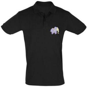 Men's Polo shirt Elephant abstraction - PrintSalon