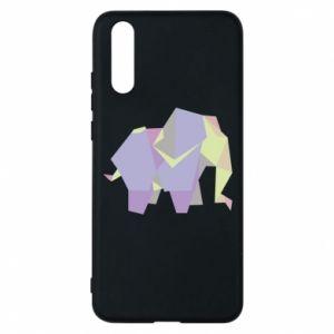 Etui na Huawei P20 Elephant abstraction