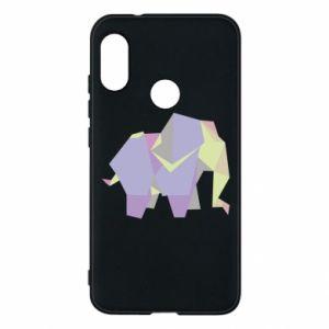 Phone case for Mi A2 Lite Elephant abstraction - PrintSalon
