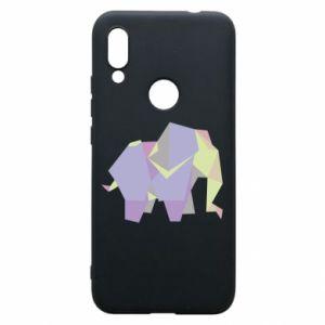 Phone case for Xiaomi Redmi 7 Elephant abstraction - PrintSalon