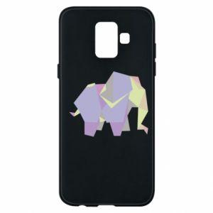 Phone case for Samsung A6 2018 Elephant abstraction - PrintSalon
