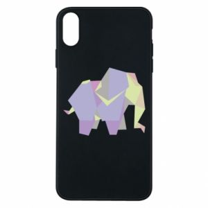 Etui na iPhone Xs Max Elephant abstraction