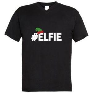 Męska koszulka V-neck #elfie