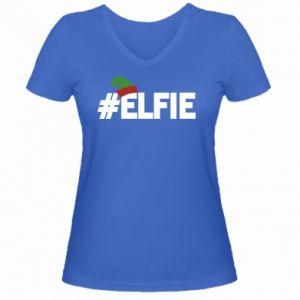 Damska koszulka V-neck #elfie