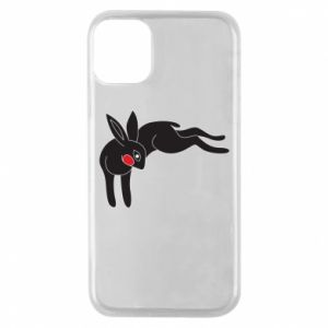 Phone case for iPhone 11 Pro Embarrassed black bunny - PrintSalon