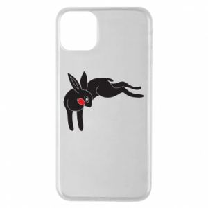 Phone case for iPhone 11 Pro Max Embarrassed black bunny - PrintSalon