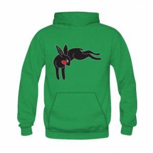 Bluza z kapturem dziecięca Embarrassed black bunny