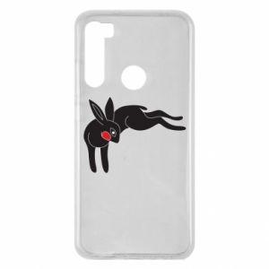 Etui na Xiaomi Redmi Note 8 Embarrassed black bunny