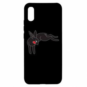 Etui na Xiaomi Redmi 9a Embarrassed black bunny