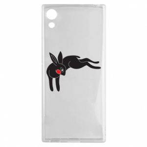 Etui na Sony Xperia XA1 Embarrassed black bunny