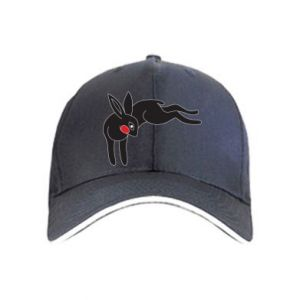 Cap Embarrassed black bunny