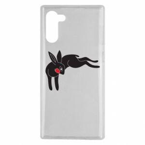 Etui na Samsung Note 10 Embarrassed black bunny