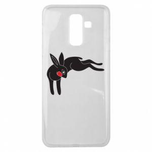Etui na Samsung J8 2018 Embarrassed black bunny