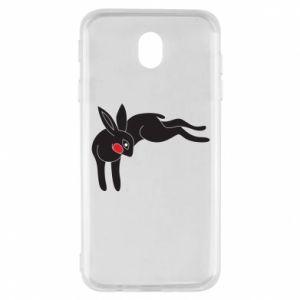 Etui na Samsung J7 2017 Embarrassed black bunny