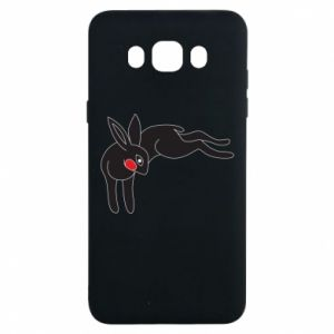 Etui na Samsung J7 2016 Embarrassed black bunny