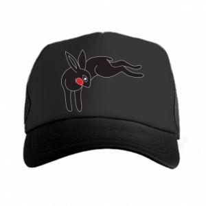Czapka trucker Embarrassed black bunny