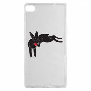 Etui na Huawei P8 Embarrassed black bunny