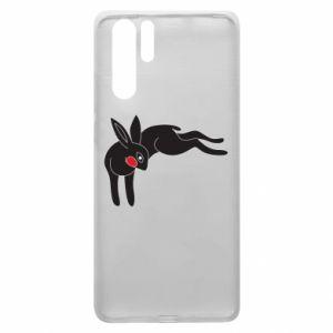 Etui na Huawei P30 Pro Embarrassed black bunny