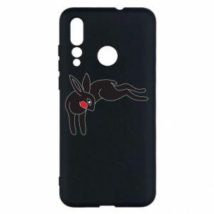 Etui na Huawei Nova 4 Embarrassed black bunny