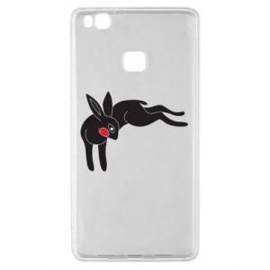 Etui na Huawei P9 Lite Embarrassed black bunny