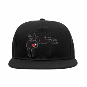 Snapback Embarrassed black bunny