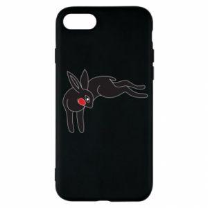 Etui na iPhone SE 2020 Embarrassed black bunny
