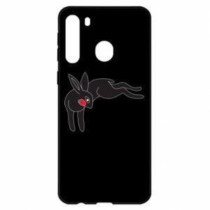 Etui na Samsung A21 Embarrassed black bunny