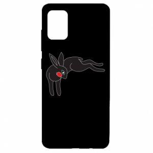 Etui na Samsung A51 Embarrassed black bunny