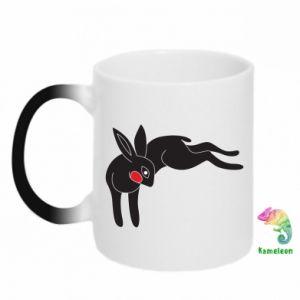 Kubek-kameleon Embarrassed black bunny