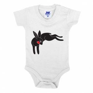 Body dziecięce Embarrassed black bunny