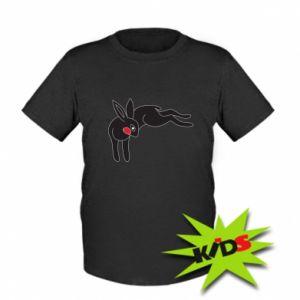 Dziecięcy T-shirt Embarrassed black bunny