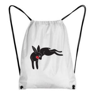 Plecak-worek Embarrassed black bunny