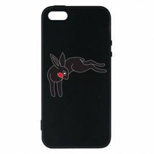 Phone case for iPhone 5/5S/SE Embarrassed black bunny - PrintSalon