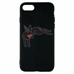 Phone case for iPhone 8 Embarrassed black bunny - PrintSalon
