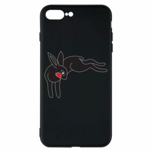 Phone case for iPhone 8 Plus Embarrassed black bunny - PrintSalon