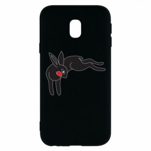 Phone case for Samsung J3 2017 Embarrassed black bunny - PrintSalon