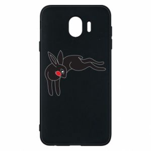 Phone case for Samsung J4 Embarrassed black bunny - PrintSalon