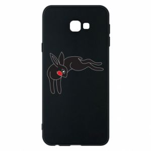 Phone case for Samsung J4 Plus 2018 Embarrassed black bunny - PrintSalon