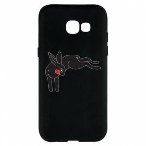 Phone case for Samsung A5 2017 Embarrassed black bunny - PrintSalon