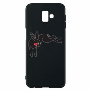 Phone case for Samsung J6 Plus 2018 Embarrassed black bunny - PrintSalon