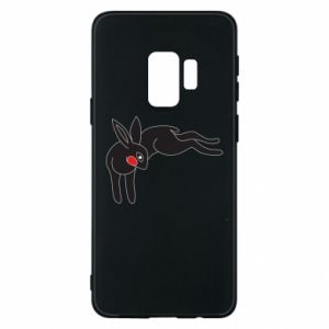 Phone case for Samsung S9 Embarrassed black bunny - PrintSalon