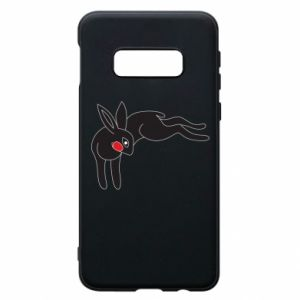 Phone case for Samsung S10e Embarrassed black bunny