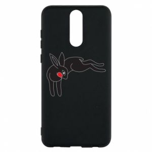 Phone case for Huawei Mate 10 Lite Embarrassed black bunny - PrintSalon