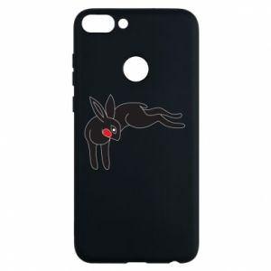 Phone case for Huawei P Smart Embarrassed black bunny - PrintSalon