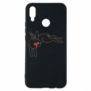 Phone case for Huawei P Smart Plus Embarrassed black bunny - PrintSalon